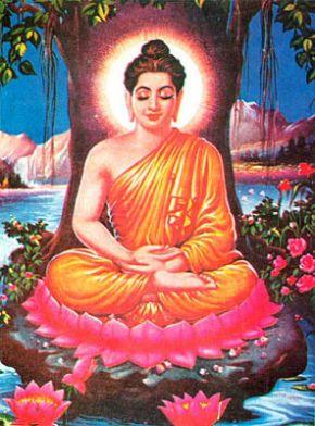 Bouddha méditant sous l'arbre