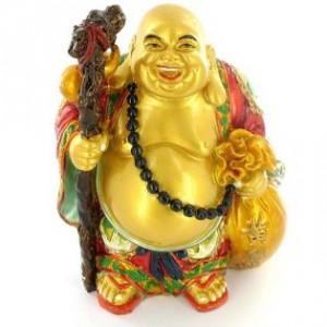 bouddha rieur bonheur doré