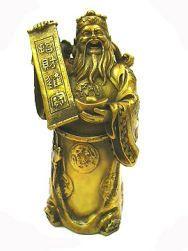 caishen en bronze
