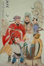 calligraphie des 3 étoiles chinoises