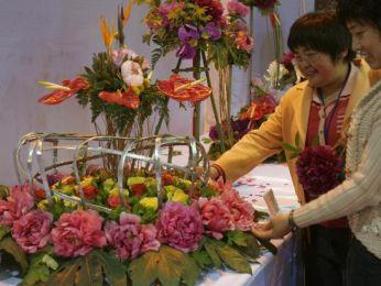Pratique et expérience permettent la réalisation d'oeuvre d'art avec l'ikebana