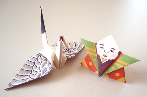 L'origami permet aussi la décoration des papiers pliés