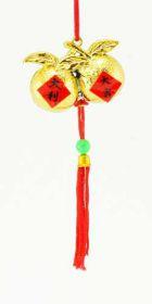 Cordon feng shui avec le symbole de la pêche