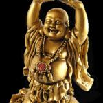 bouddha fortune doré