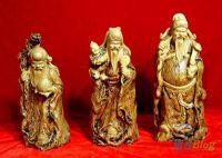 statuettes des 3 divinités chinoises
