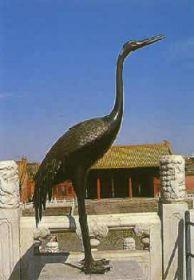 Statue chinoise représentant la grue