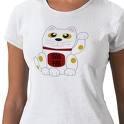 en tee shirt, pour avoir le chat japonais toujours avec soi